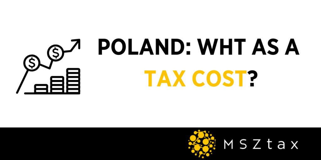 POLAND WHT TAX DEDUCTIBLE COST