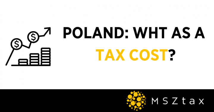WHT as a tax cost in Poland