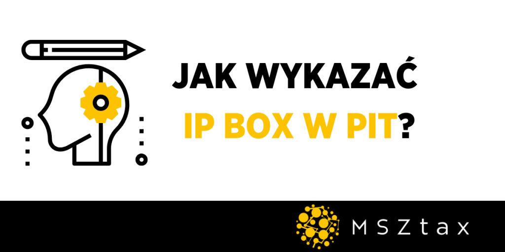 Jak wykazać IP BOX w PIT