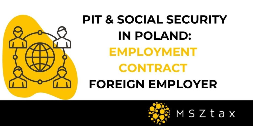 Working from Poland for foreign employer