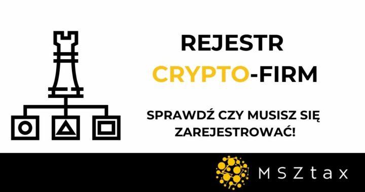 rejestracja firm kryptowalutowych